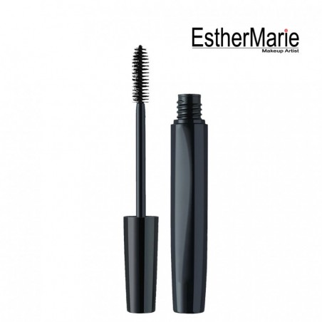 Deep black mascara for curl and volume