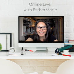 EstherMarie live online in the studio straight to your home