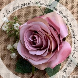 EstherMarie Mothers Day with Love Vintage rose