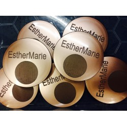 Empty mirror compact for TWO foundations or powders