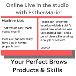 Online live in the studio with EstherMarie perfect brow workshop. Client said